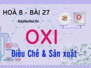 Điều chế, sản xuất Oxi (O2) trong phòng thí nghiệm và trong...